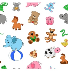 pattern funny animals vector image