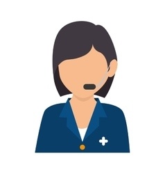 Person operator headset service assistant vector