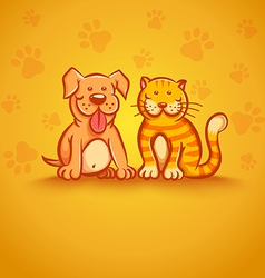 pets yellow vector image