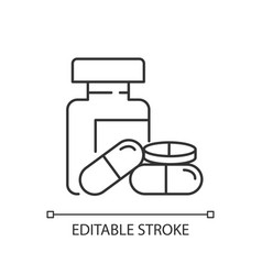 Pharmacy pixel perfect linear icon vector