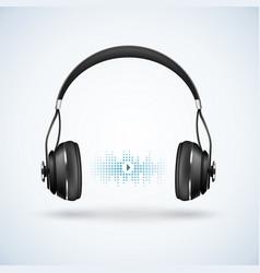 Realistic wireless earphones vector