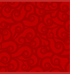 Red bright colorful abstract background with wavy vector