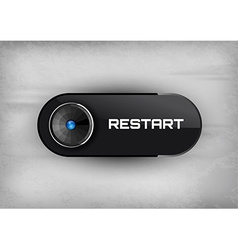 Restart button vector image