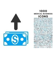 Send Banknotes Icon with 1000 Medical Business vector image