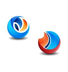 set of 3d logo template vector image