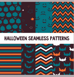 set of halloween background collection of vector image