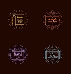 Set of Hipster Vintage Labels Logotypes Insignias vector