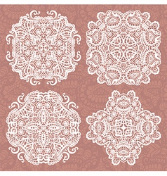 Set of lace ornaments vector image