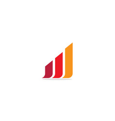 shape line chart company logo vector image
