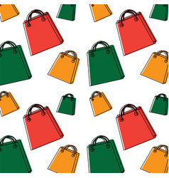 shopping bag pattern image vector image