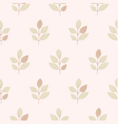 simple leaves creative pastel light pattern vector image
