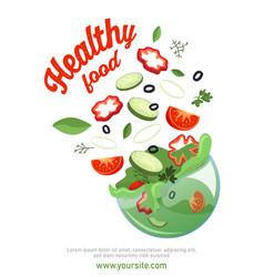 Sliced vegetables poster vector