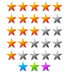 Stylish star rating template vector