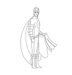 Superhero for coloring book isolated comic book vector