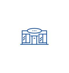 supermarketshopping center line icon concept vector image