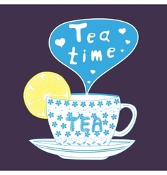 tea cup vector image