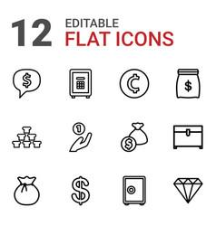 treasure icons vector image
