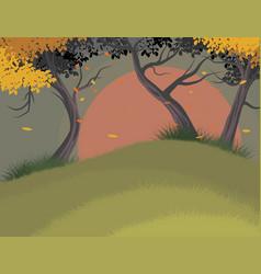 Trees falling scene vector
