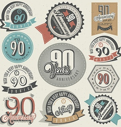 Vintage design elements and emblems vector image