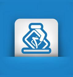 vote concept icon vector image