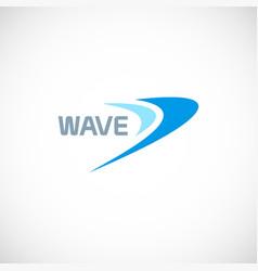wave loop logo vector image