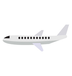 white air plane on white background vector image