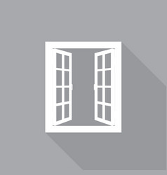 window in a flat-style vector image