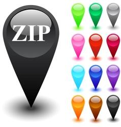 ZIP button vector
