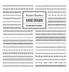 ethnic style pattern brushes set vector image