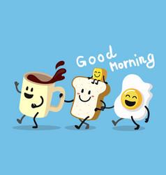 fun morning breakfast vector image