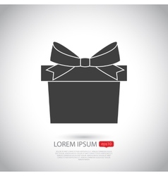 Gift icon Flat design vector image vector image