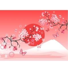 Japanese cherry tree vector image