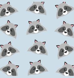 raccoon cartoon design vector image