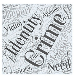 reporting identity theft Word Cloud Concept vector image