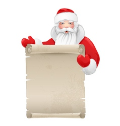 Santa claus with the manuscript vector image vector image