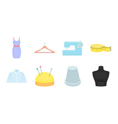 atelier and sewing icons in set collection for vector image