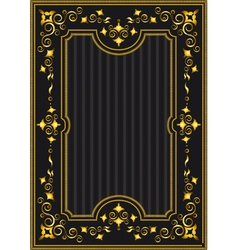 Classical gold frame with oriental pattern vector image