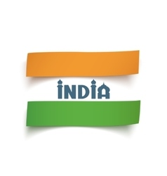 Conceptual abstract Indian flag vector image