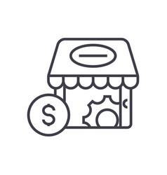 e-commerce marketing concept thin line icon vector image