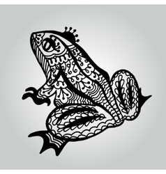 Handdrawing doodle frog Wildlife collection vector image vector image