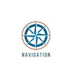 navigation logo template with compass vector image vector image