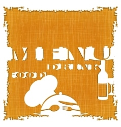 restaurant menu template textural background vector image vector image