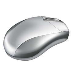 silver mouse vector image vector image