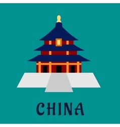 Ancient chinese Temple of Heaven vector image