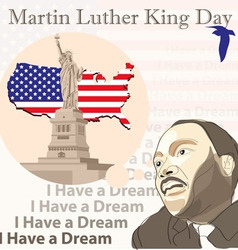 Martin Luther King Day vector image vector image
