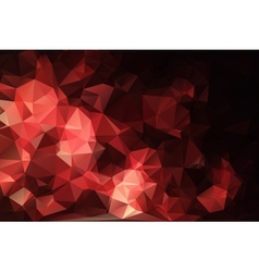 Red black abstract background polygon vector image