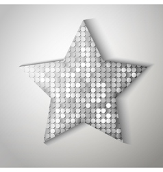 Shiny sequins star Eps 10 vector image vector image