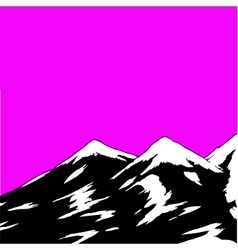 abstract landscape with mountain range vector image