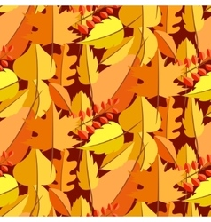 Autumn leaves fall seamless pattern vector image vector image