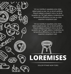 barbecue burgers chalkboard poster design vector image